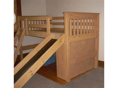 Loft Bunk Bed With Slide Loft Bed With Slide Plan Loft Bed Design Loft Bed With Slide