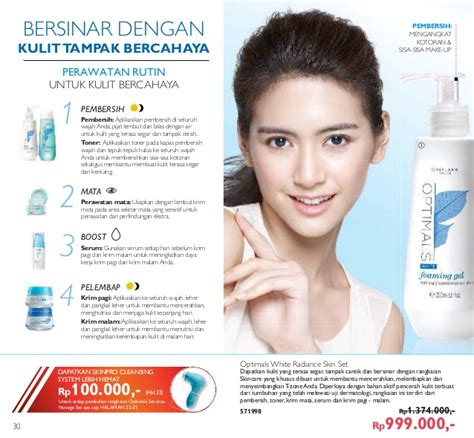 Novage Bright Sublime Brightening Toner 200 Ml katalog oriflame januari 2017 promo novage bright sublime set