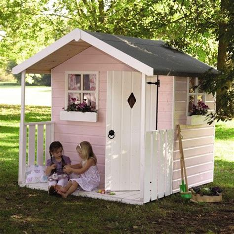 Playhouse Windows And Doors Ideas Pink And Small Outdoor Playhouses For