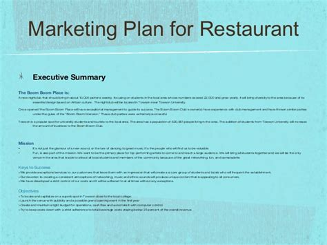 design proposal for cafe sle ppt marketing