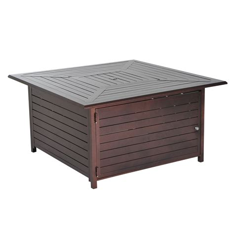 outdoor propane fire pit outsunny 45 quot slatted steel outdoor propane gas fire pit