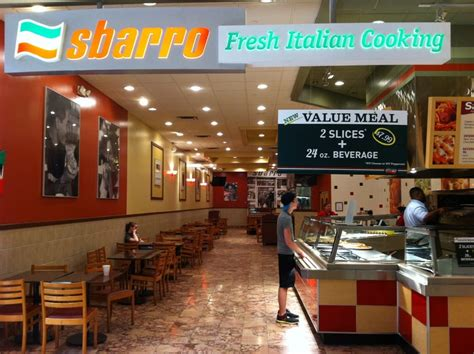 sbarro s buffet italiano restaurants mccain mall