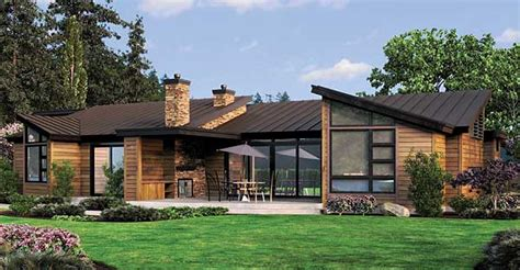 Contemporary Single Story House Plans by Plan W69402am Single Story Contemporary House Plan E