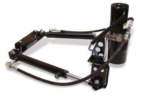 atv utv snow plow hydro turn hydraulic power turn kit