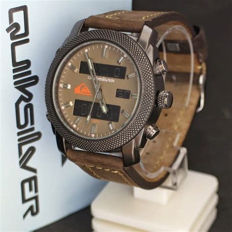 Jam Tangan Quiksilver Tgl Leather jam tangan quiksilver leather brown ii kw gudang