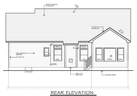 House Plan 54055 At Familyhomeplans Com Ranch House Plans With Rear Exposure
