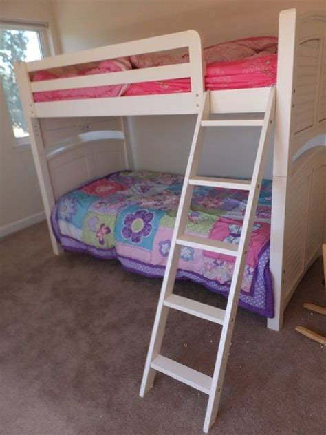 Bedding Plus by Lot Detail White Size Bunk Beds With Ladder
