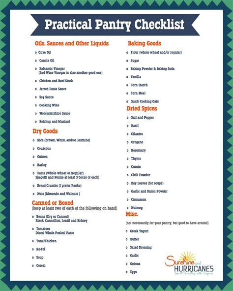 Pantry Checklist by How To Organize A Pantry For Mealtime Success