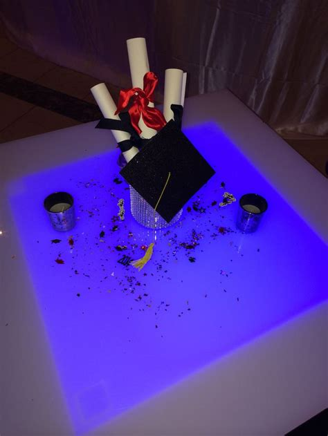 graduation cap centerpieces graduation diploma and cap centerpieces created by touch of elegance ny www touchofeleganceny
