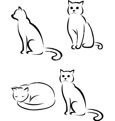 outline sleeping cat tattoo 1000 ideas about cat silhouette tattoos on