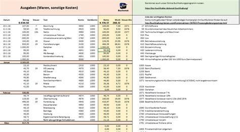 Rechnung Vom Kleinunternehmer Buchen Kostenlose Excel Vorlage F 252 R Ihre Buchhaltung Und E 220 R