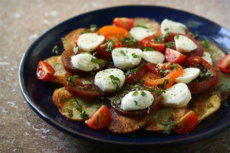 Crispy Salad Potato crispy potato caprese salad leaf grain leaf grain