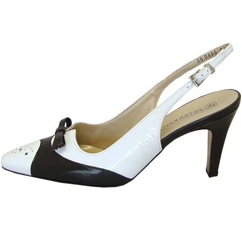 black and white shoes kaiser tarent black and white slingback shoes