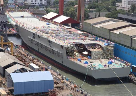 catamaran aircraft carrier wiki file ins vikrant during its christening ceremony 3 jpg