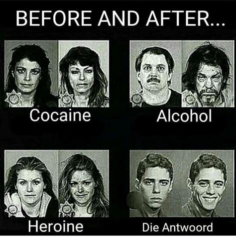 Die Antwoord Meme - before and after alcohol cocaine heroine die antwoord