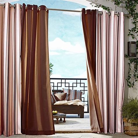 commonwealth outdoor curtains buy commonwealth home fashions gazebo striped 84 inch