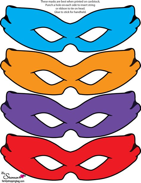 printable ninja mask free teenage mutant ninja turtles party printables