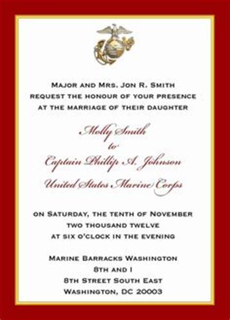 Usmc Wedding Invitations by Marine Corps Wedding On Marine Corps Wedding