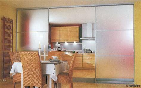 schiebetürsysteme raumteiler trennwand k 252 che wohnzimmer