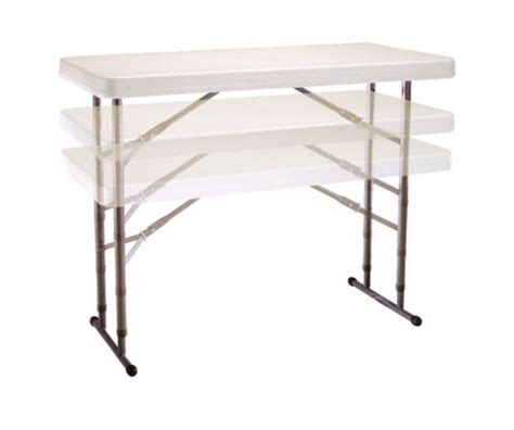 lifetime 4 foot table lifetime adjustable height folding table 80161 4 ft almond