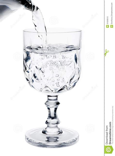 What To Fill Glass With Filling A Glass With Water Stock Photography Image