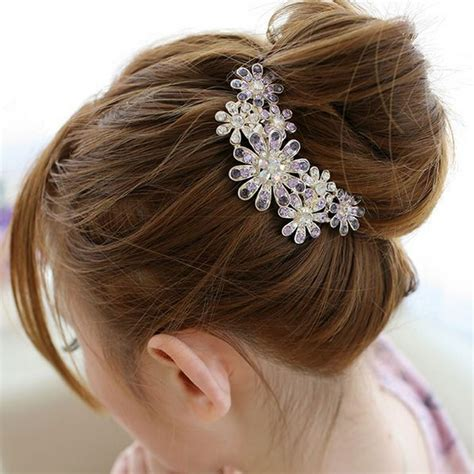 Parfum Korean Hair Clip amader korean fashion headwear colorful flower hair combs hair for hair