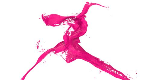 Pink Paint Splash Stock Footage Video Shutterstock Color Care Liquid