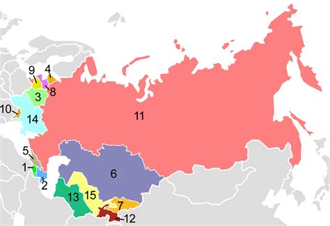 nations of the former ussr map quiz republics of the soviet union