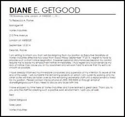 short notice resignation letter resignation letters