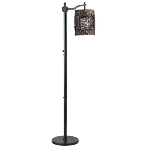 Patio Floor Lighting Tanglewood 58 In Bronze Outdoor Floor L 32220brz The Home Depot