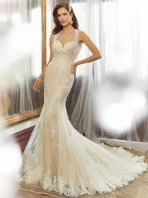 designer wedding gowns sheath wedding dress with chapel