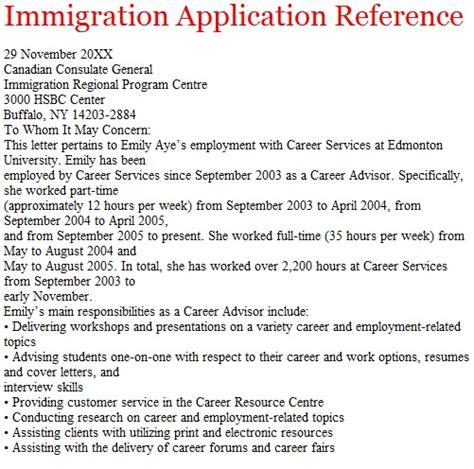Canada Immigration Reference Letter Format letters of reference october 2012