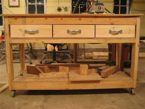 woodwork workbench plans  drawers  plans