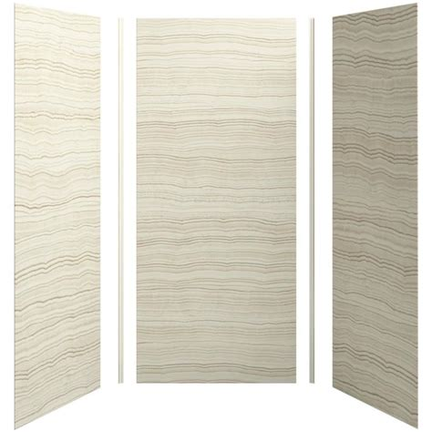 bathroom wall shower panels shop kohler choreograph veincut biscuit shower wall