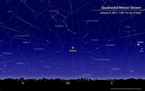 Meteor Shower Calendar quadrantid meteor shower january 2017 naoj national