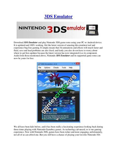 3ds emulator mobile 3ds emulator v2 3