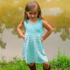 Little girls monogrammed striped summer dresses jane