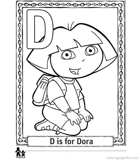 Dora Alphabet Coloring Pages | dora the explorer coloring page coloring home
