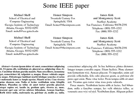 how to write an ieee paper titles using ieeetran document class how to align