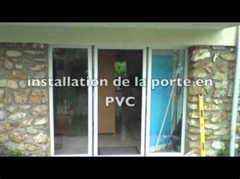 vitrier installation d une porte en pvc avec