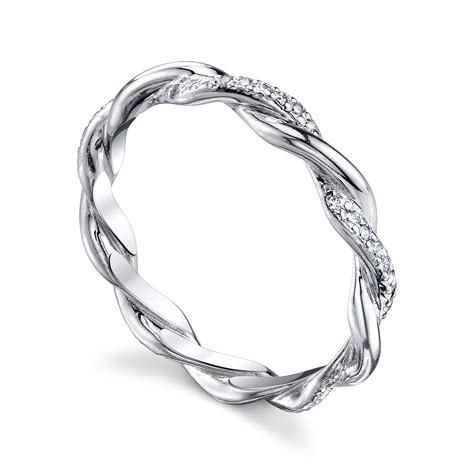 michael b infinity ring alternating infinity band michael b jewelry