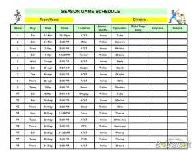 baseball schedule template free free league lineup manager league