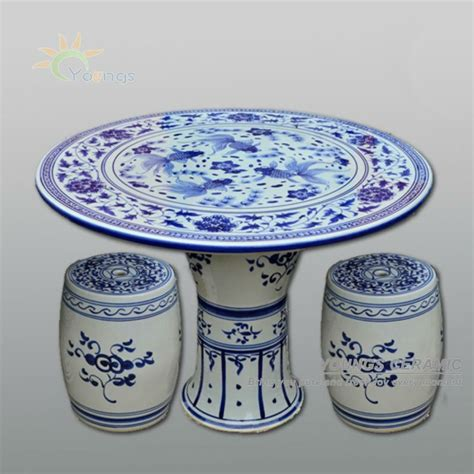 Antique Blue And White Ceramic Porcelain Garden Table And Stool With Design Buy Antique Blue And White Ceramic Porcelain Garden