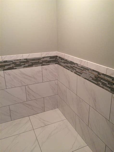 is daltile esta villa wall tile glossy daltile florentine carrara 12x24 gloss on the walls with