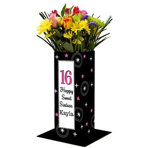 centerpiece for sweet 16 sweet 16 personalized centerpiece shindigz