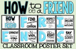 The free poster set is here how to be a friend
