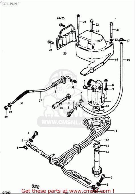 Suzuki Gt750 Parts List Suzuki Gt750 1973 1974 1975 1976 1977 K L M A B
