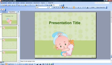 template ppt baby free feeding baby powerpoint template
