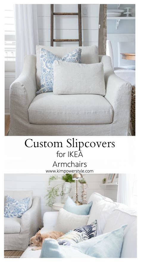 ikea custom slipcovers custom slipcovers for my ikea armchairs kim power style