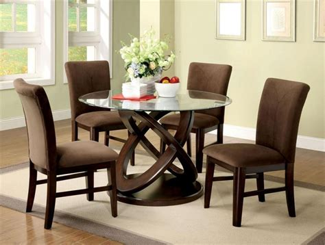 glass dining table set shelby